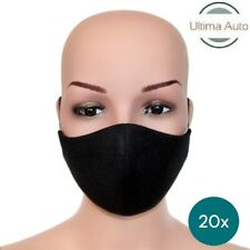 20x Black Breathable Fabric Washable Face Mouth Anti Pollution Protection