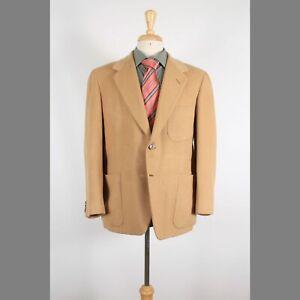 Oxxford 42S Beige Solid Camelhair 2-Button Sport Coat Blazer Jacket