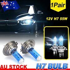 1Pair 12V H7 55W Xenon 6000k Halogen Car Front Head Light Lamp White Globe Bulb