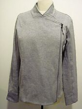 Calia by Carrie Underwood Gray Designer Sweater Front, Side Zipper Size M
