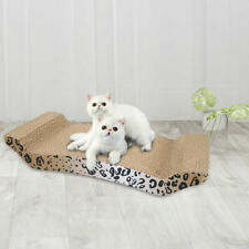 Panther Print Cat Toy Scratching Corrugated Board Scratcher Bed Pad with Catnip