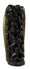 STATUE MAKONDE TOUR DES ANCETRES -ARBRE DE VIE EBENE ART AFRICAIN-TANZANIE- 428