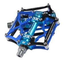 RockBros Road Mountain Bike Pedals Aluminum Alloy Cycling 3 Sealed Bearing Blue