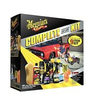 Meguiar's Car Care Kit Gift Pack  9-Piece Complete Auto Detailing Wax Clean Wipe
