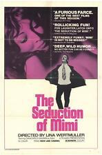 THE SEDUCTION OF MIMI Movie POSTER 27x40 Giancarlo Giannini Mariangela Melato