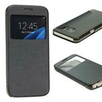 Samsung Galaxy S7 View Case Sichtfenster Cover Handy Schutz Hülle Tasche