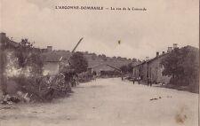 MEUSE - L'ARGONNE - DOMBASLE - LA RUE DE LA CONCORDE - CARTE NEUVE.