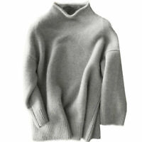 Winter Warm Womens Pullover Sweater Stylish Jumper Tops Cashmere Blend Sweater D