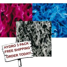 Extreme Flame #3 Hydro 3 pack Hydrographic Water Transfer Film Hydro Dipping Dip