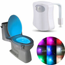 1x Sensing Automatic LED Motion Sensor Night 8 Colors Change Toilet Bowl Light
