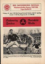 DDR-Liga 87/88 ZEPA Sajonia anillo Zwickau-BSG progreso weida, 29.04.1988