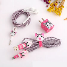 Bid DIY Wire Rope Protection Suit Spring Cable Winder Charger Sticker For iphone