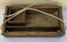 Primitive Wood Tool Tote box Farmhouse shabby Endicott College wooden rustic MA
