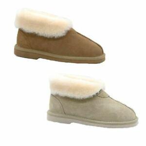 Womens Ugg Short Boots Suede Sheepskin Grosby Princess Chestnut Beige Slippers