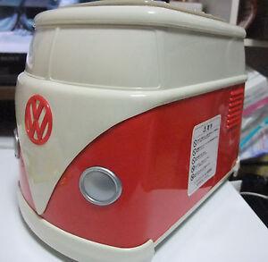 Volkswagen VW Tostadora Rojo Caja Original Mini Bus Le Muy Raro Nuevo