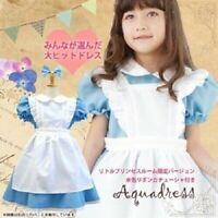 Alice in Wonderland Princess Kids Girl Child Teen Dress For Halloween Costume
