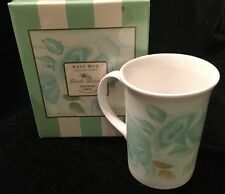 Camille Beckman Queen's Rose Summer Green Coffee Mug Fine Bone China