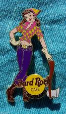 MINNEAPOLIS SEXY BRUNETTE WOOD CUTTER LUMBERJACK GIRL AXE Hard Rock Cafe PIN