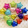 "10 pieces 5"" 10"" 18"" Love Heart Foil Helium Balloon Balloons Wedding Party Decor"