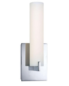 George Kovacs P5040-077-L Tube Collection 1 Light LED Wall Sconce in Chrome
