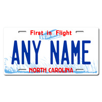 US Metal License Plate - North Carolina - Customise your own plate