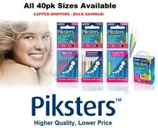Piksters Interdental Brushes 40 pack - All Colours & Sizes. Buy Bulk and Save!