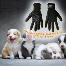 UK Pet Dog Bath Comb Cleaner Grooming Gloves Brush Hair Remover Shedding Massage