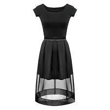 Women short sleeves black slim short tee shirt+ tutu lace skirt set