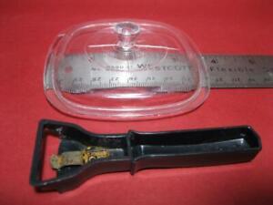 Corelle Corning Ware PLASTIC Toy Play Dishes CHILTON BLACK casserole HANDLE /LID