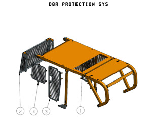 Sweeps and Screens fits CAT D8R Bulldozer