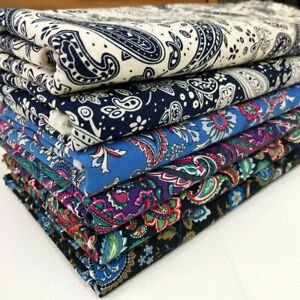 Bandana Paisley Print 100% Cotton Fabric For Sewing Crafts By The Metre/ Bundle