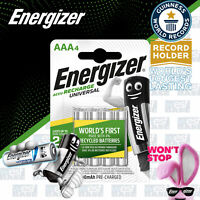 4x Energizer AAA RECHARGEABLE UNIVERSAL Batteries HR03 500mAh NiMH MN2400 Exp+