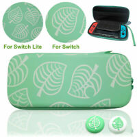 Animal Crossing Carrying Case For Nintendo Switch /Lite Joystick Thumb Grips Cap