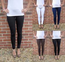 EXTRA LONG Tall Leggings HIGH WAIST Cotton UK  8 10 12 14 16 18 20 22 24 26 28