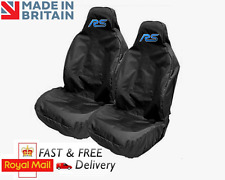 RS CAR SEAT COVERS PROTECTORS SPORTS BUCKET HEAVY WATERPOOF - Fits FORD FOCUS RS
