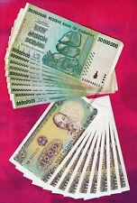 10 x 50 Million Zimbabwe Dollars + 10 x 1,000 Vietnam Dong Bank Notes Currency