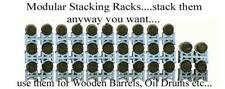 WHISKEY Barrel storage racks, MODULAR stack as many & anyway you want, HO scale