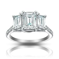 2.10 ct Ladies Emerald Cut Diamond Engagement Ring