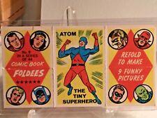 1966 TOPPS COMIC BOOK FOLDEES #9 ATOM THE TINY SUPERHERO