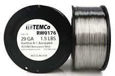 TEMCo Kanthal A1 wire 29 Gauge 1.5 lb (4840 ft) Resistance AWG A-1 ga