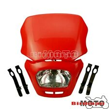 Motorcycle Headlight Dual Lights Sport Enduros Cross Red For HONDA XR250 XR400