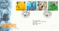25 AUGUST 1998 CARNIVAL ROYAL MAIL FIRST DAY COVER BUREAU SHS