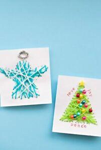 Christmas Cards Tree Snowman Handmade card