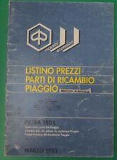 PIAGGIO SFERA QUARTZ COSA PX 125 150 200 93 LISTINO PREZZI RICAMBI PRICE LIST
