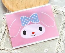 20x Rabbit Gift Bags Treat Lollies Pink Bag Macaron Cookie Packaging Easter DIY