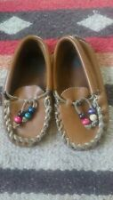 Vintage Children Unisex Leather Indian Loafers Slippers