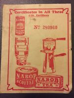 Nabob Vintage Paper Print Ad, Nabob Aluminum Wear, Nabob Baking Powder Tea E90