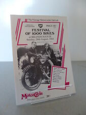 Brands Hatch BP Festival of 1000 Bikes Motor Cycle Programme 26th August 1984