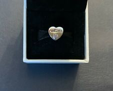 Genuine Sterling Silver Pandora Fitting 'Sister's Love' Charm- Pouch & Gift Wrap