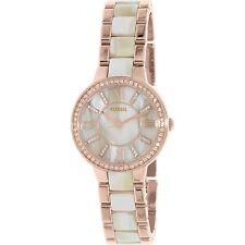 Fossil Women's Virginia ES3716 Rose Gold Stainless-Steel Quartz Fashion Watch